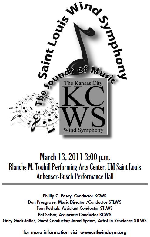 Concert in St Louis 3/13/2011 Announcement